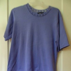 SAG HARBOR SHORT SLEEVE SWEATER - 2X